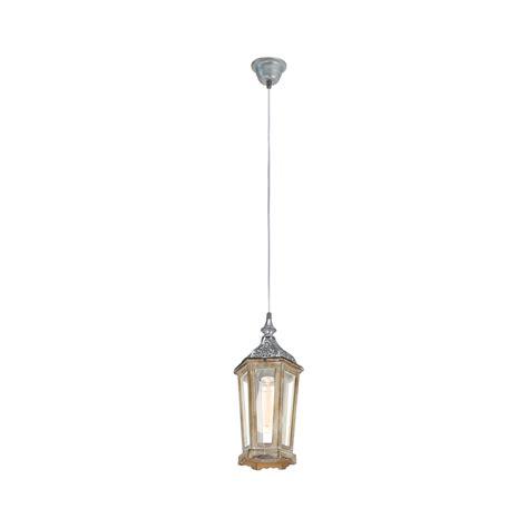 silver lantern pendant light eglo 49206 kinghorn 1 light ceiling pendant wood silver