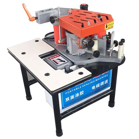 fcs edge banding machine portable  sided gluing edge bander speed controllable