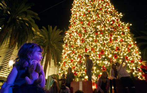tree lights up for holidays at fashion island daily pilot