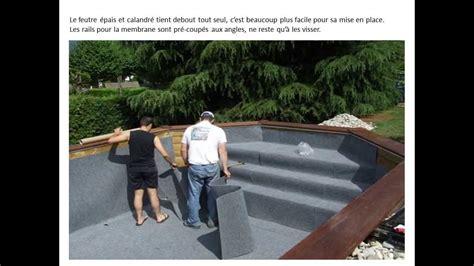 kit piscine bois semi enterree piscine bois et alu montage d un kit piscine acdr pistyle