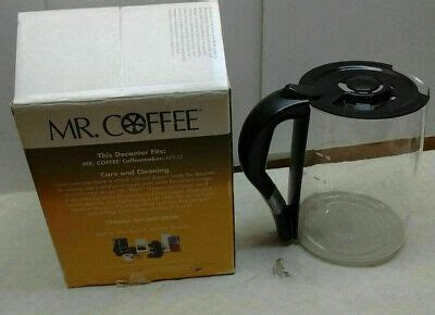 Coffee, black this carafe is packaged with a lid adaptor to expand the fit. Mr. Coffee APX33 12-Cup Replacement Glass Coffee Carafe Tea Pot Clear Black-Lid | eBay