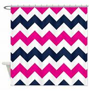 Blue And Pink Shower Curtain by Chevron Shower Curtain Navy Blue Hot Pink White Zig Zag