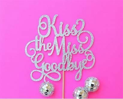 Cake Topper Goodbye Kiss Shower Bridal Miss