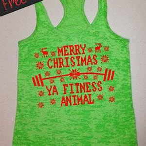 Best Christmas Workout Tanks Products on Wanelo