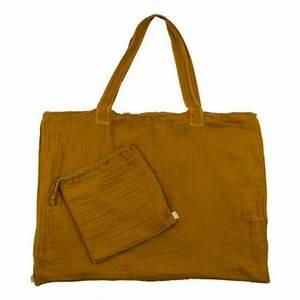 Pochette Jaune Moutarde : sac cabas en coton et pochette jaune moutarde numero 74 mode enfant smallable ~ Teatrodelosmanantiales.com Idées de Décoration