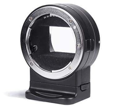 viltrox nf e1 is a new electronic autofocus adapter for mounting nikon f mount lenses sony e