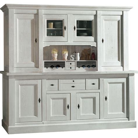 bahut de cuisine bahut vaisselier 4 portes blanc meuble de cuisine
