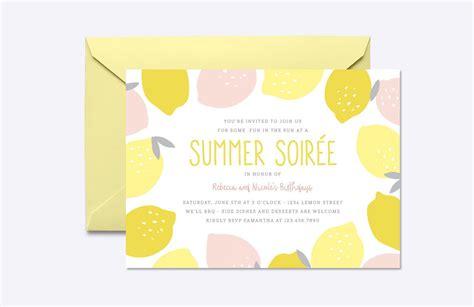 pink lemonade invite template invitation templates
