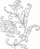 Embroidery Patterns Crewel Flower Jacobean Coloring Floral Bestcoloringpagesforkids Tattoo Pattern sketch template