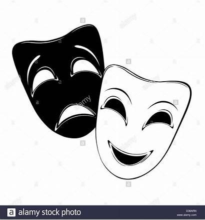 Mask Theatrical Background Drama Sad Happy Faces