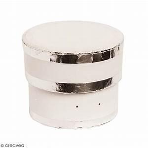 Boite Cadeau Ronde : bo te cadeau ronde couvercle blanc bords argent s 5 ~ Teatrodelosmanantiales.com Idées de Décoration