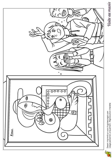 journal de cuisine coloriage visite au musée enfants tableau