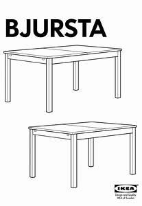 Ikea Bjursta Dining Table 55x71x87 U0026quot  Instructions Manual