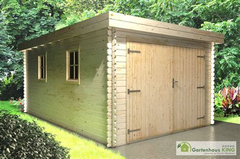 Flachdach Holzgarage Schweden 50 Gartenhauskingde