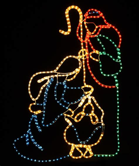 rope light sculptures    led holy family