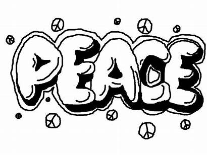 Graffiti Coloring Peace Pages Teens Printable Adults