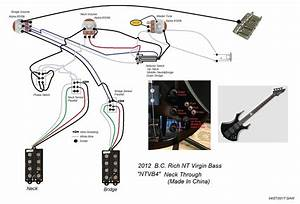 New B C  Rich Nt Virgin Bass Problems W  Schematic
