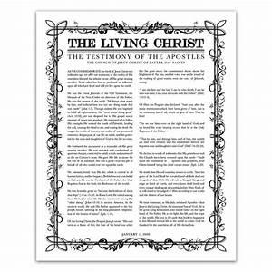 Filled Leaf Living Christ in The Living Christ