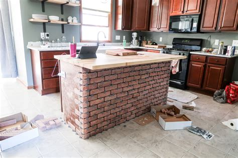 center islands for kitchen diy brick kitchen island the of our