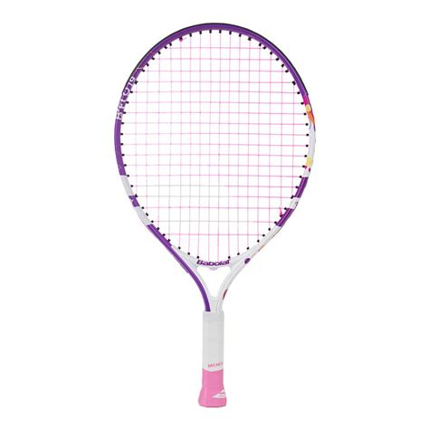 babolat bfly  junior tennis racquet  white  purple