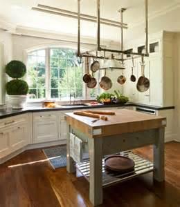 small butcher block kitchen island 25 best ideas about pot hanger kitchen on