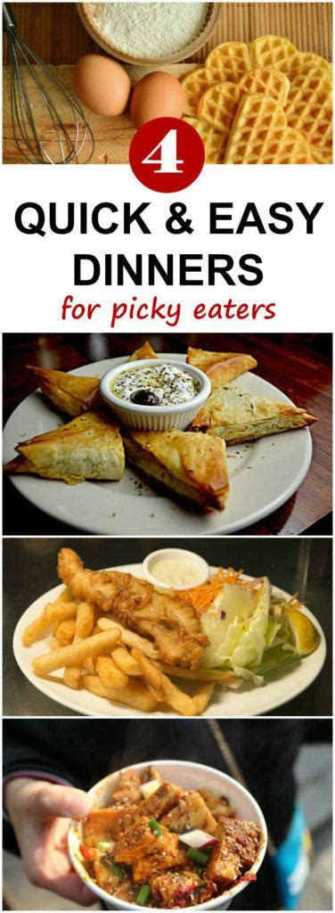 Of course there are occasions where the kids eat dinner early and we don't eat as a family but the idea here is you're not cooking. Four Quick and Easy Dinner Ideas for Picky Eaters