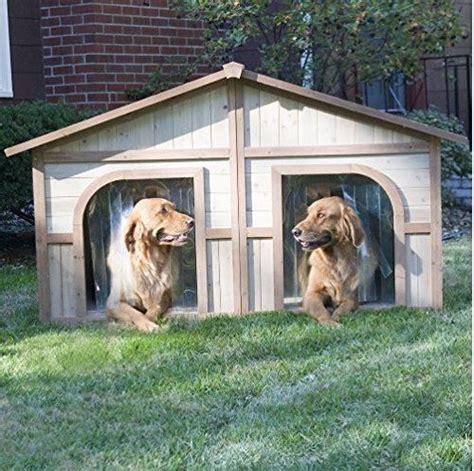 duplex dog house extra large wood pet bed shelter outdoor deck backyard patio ebay dog house