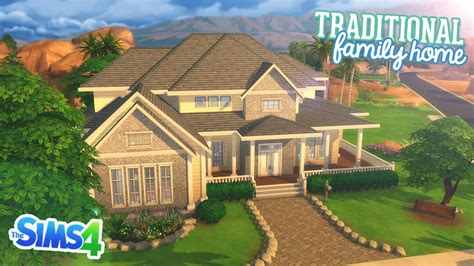 sims  speed build traditional family home youtube