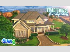 The Sims 4 Speed Build Traditional Family Home YouTube