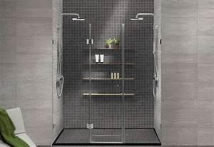 salle de bain avec douche italienne en quelques idees deco With salle de bain moderne douche italienne