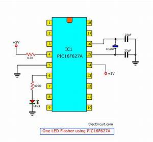Pic Microcontroller Learning For Beginner Led Flasher