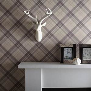 Arthouse Vintage Fairburn Tartan Check Pattern Textured ...