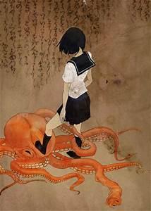 anime, art, asian, calligraphy, drawing, girl - image ...
