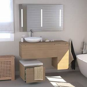 17 best images about salle de bain plan de travail on With meuble wc leroy merlin