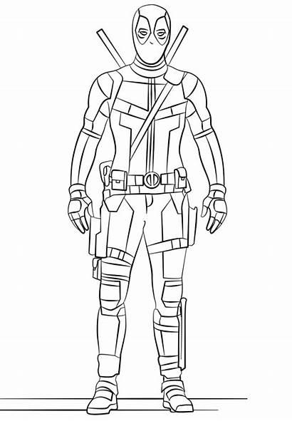 Deadpool Dibujos Colorear Coloring Categorias