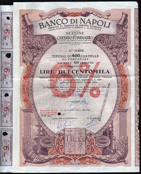 Numero Telefonico Banco Di Napoli Italy Banco Di Napoli Istituto Di Credito Di Diritto