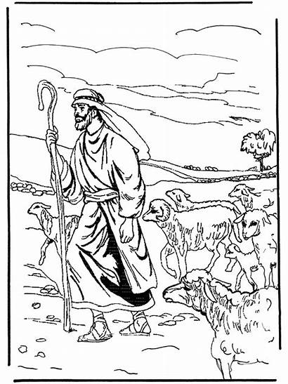 Shepherd Coloring Pages Psalm Jesus Colouring Sheets