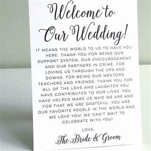 printable wedding welcome letter instant by With wedding welcome letter