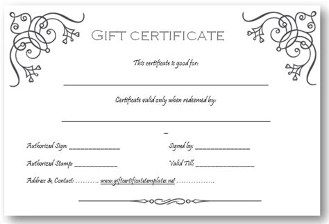 Free Downloadable Gift Certificate Templates by Make Your Own Gift Certificate Template Free Yspages