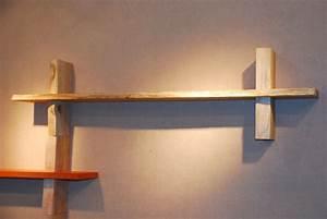 Tablette Murale Fixation Invisible : sur etageres metal massif design bricolage invisible ~ Teatrodelosmanantiales.com Idées de Décoration