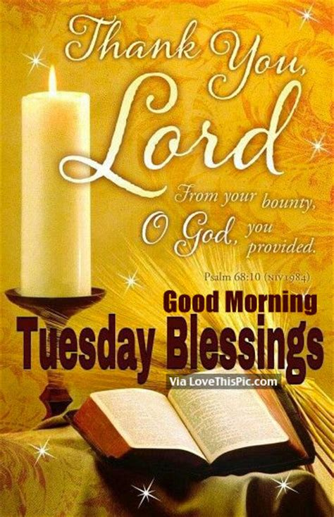 lord good morning tuesday blessings pictures