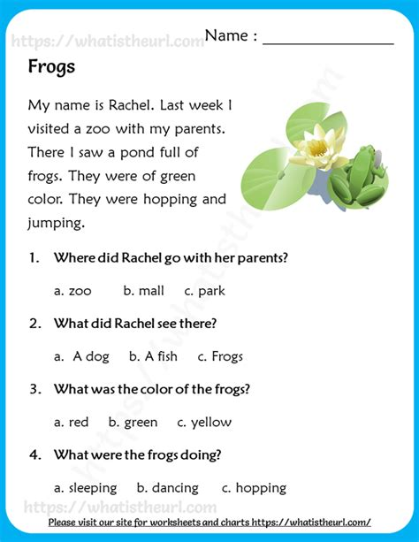 reading comprehension  grade   home teacher