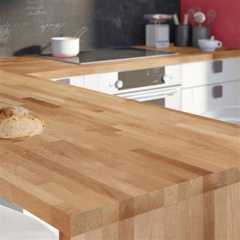 plan de travail cuisine bois brut plan de travail bois hêtre brut mat l 250 x p 65 cm ep 38