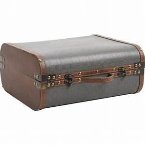 Valise En Bois : valise en bois et simili cuir vva1790 vannerie pack ~ Teatrodelosmanantiales.com Idées de Décoration