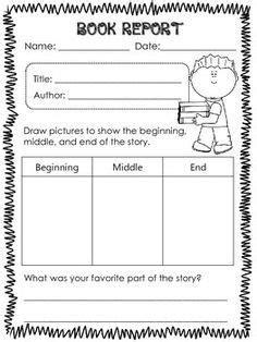 book report templates  st grade google search book