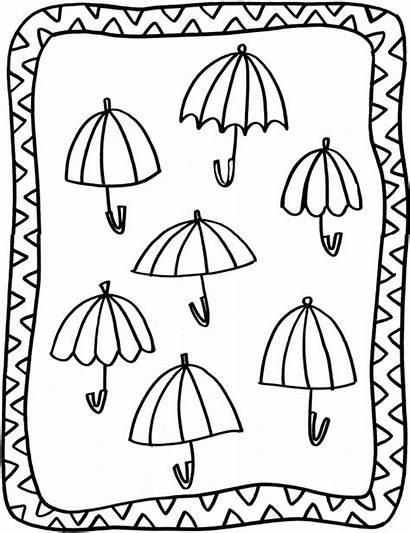 Coloring Pages Umbrellas Under Adult Salad Shrimp