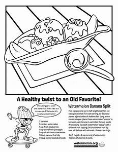 Banana Split Coloring Pages - AZ Coloring Pages