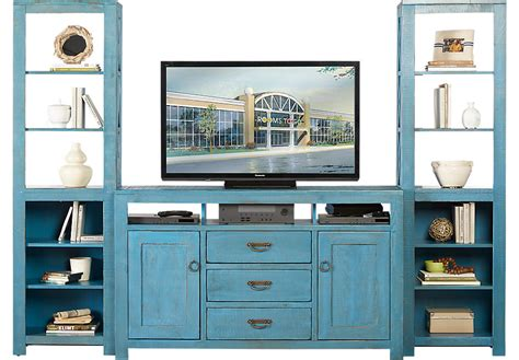 70 in flat screen tv south creek blue 3 pc wall unit wall units colors