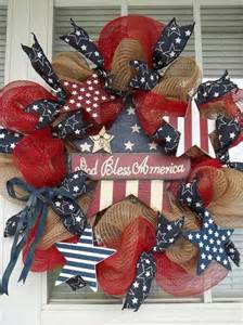 God Bless America 4th of July Wreath