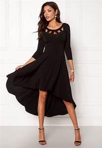 robe noire mi longue manche mi longue asymetrique et With robe mi longue manche longue